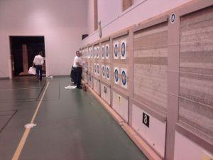 Le mur de tir du gymnase de Brichebay